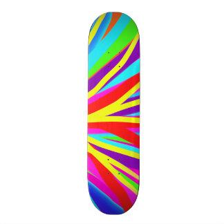 Vivid Colorful Paint Brush Strokes Girly Art Skateboard Decks