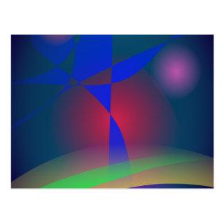 Vivid Colors against Moderate Dark Background Postcard