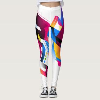 Vivid Colors Geometric Abstract Design Leggings