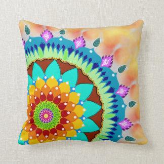 Vivid colors mandala cushion