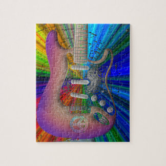 Vivid Colors Peace Guitar Puzzle