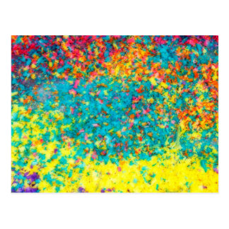 Vivid colours abstract postcard