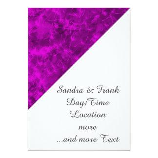 Vivid Colours,purple pink 13 Cm X 18 Cm Invitation Card