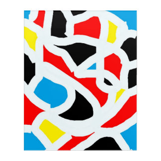 Vivid  colours  stains  wall art
