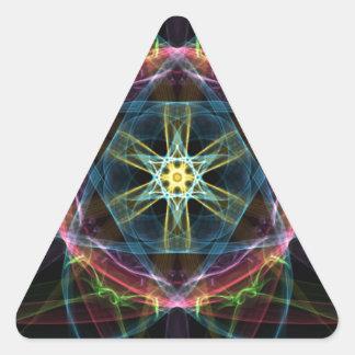 Vivid Composition Triangle Sticker