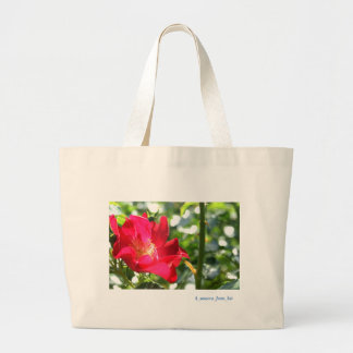 Vivid deep-red rose* Version 2☆ Large Tote Bag