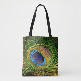 Vivid Feather Tote Bag