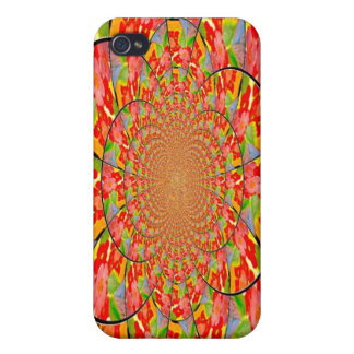 Vivid  Floral Abstract  Case Cover For iPhone 4