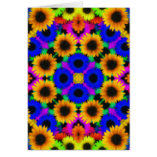 Vivid Floral Pattern Note Card