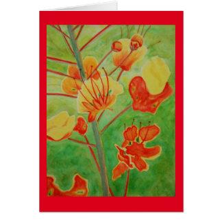 Vivid floral watercolor greeting card
