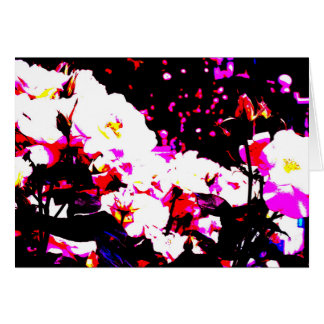 Vivid flower image greeting card Part 1