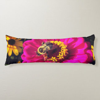Vivid Flowers with Bee Body Cushion