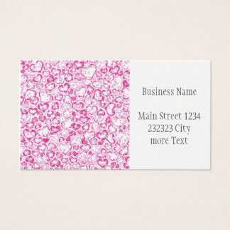 vivid hearts, pink business card