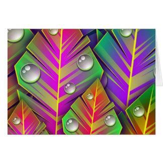 Vivid Leaves Card