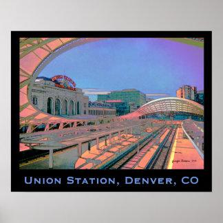 Vivid Look of Union Station, Denver, CO Poster
