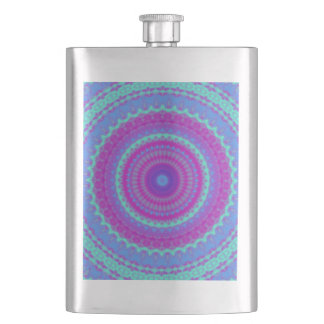Vivid Mandala Hip Flask