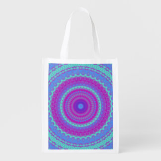 Vivid Mandala Reusable Grocery Bag