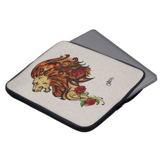 Vivid Metalic Lion Laptop Sleeve