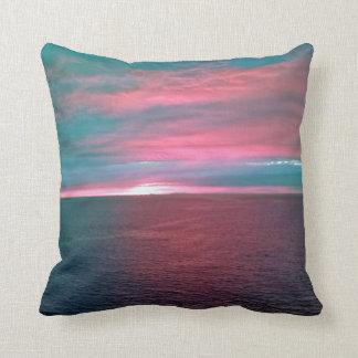 Vivid Ocean Sunset Pillow