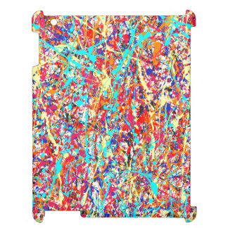 Vivid Paint Splatter Abstract Cover For The iPad