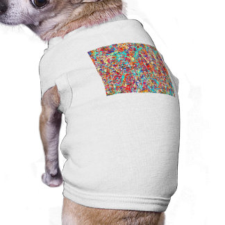 Vivid Paint Splatter Abstract Sleeveless Dog Shirt