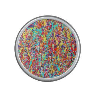 Vivid Paint Splatter Abstract Speaker