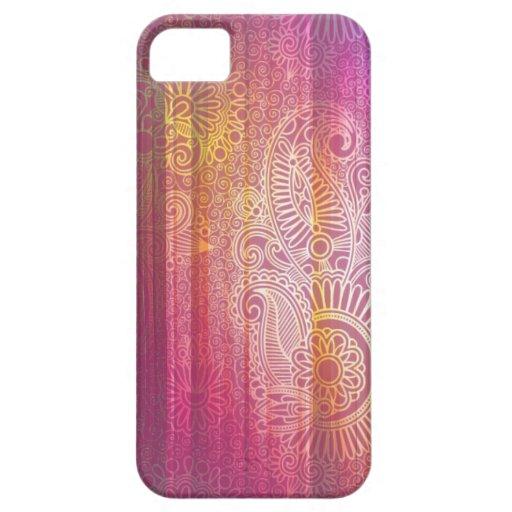 Vivid Paisley Doodle Patterns iPhone 5 Case