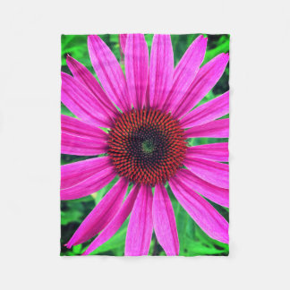 Vivid Pink Flower Fleece Blanket