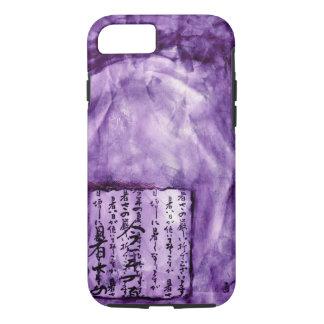 Vivid Purple Distressed Asian Script Watercolor iPhone 7 Case