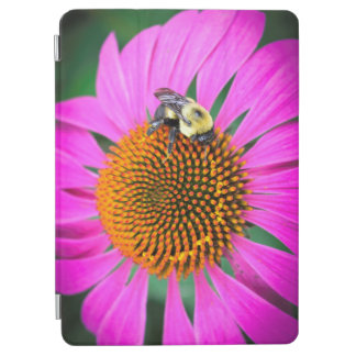 Vivid Purple Flower with Bee iPad Pro Cover