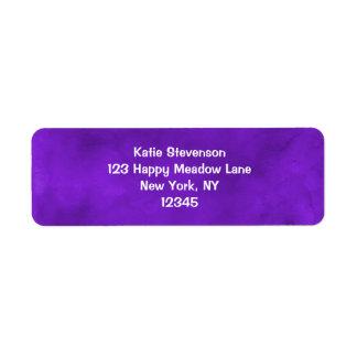 Vivid Purple Watercolor Texture Return Address Label