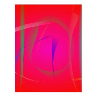 Vivid Red Abstract Bamboo Thicket Postcard