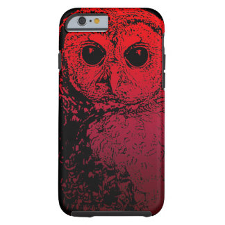 Vivid Red Owl - iPhone 6 case Tough iPhone 6 Case