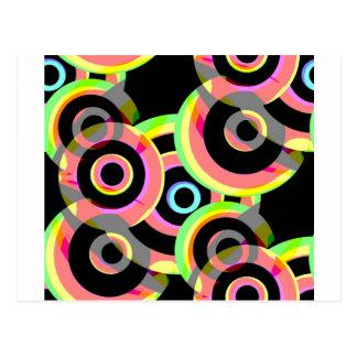vivid retro circles rounds.jpg postcard