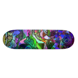 Vivid, Rich Colors: Like Stained Glass 20.6 Cm Skateboard Deck