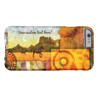 Vivid Southwest Desert Horse Graphic Collage Barely There iPhone 6 Case