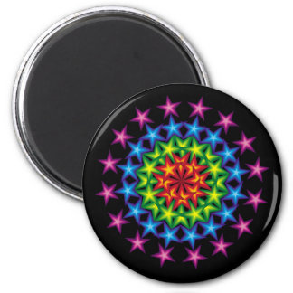vivid stars circles fridge magnets
