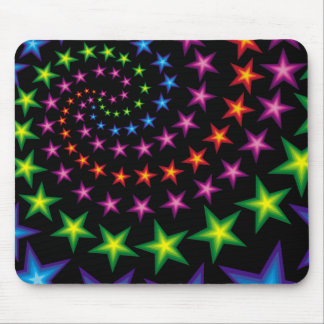 vivid stars composition mouse pad