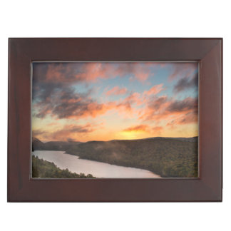 Vivid Sunrise Over Lake Of The Clouds In Autumn Keepsake Box