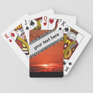 Vivid sunset landscape playing cards