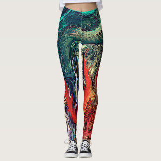 vivid Surrealism by rafi talby Leggings