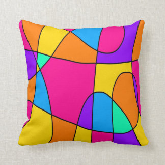 Vivid Swirls Abstract Cushion
