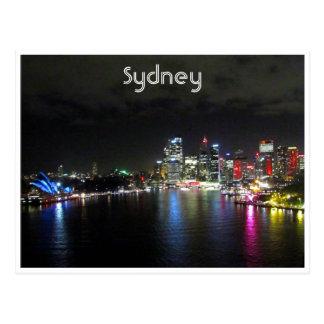 vivid sydney night postcard