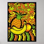 vivid tropical stillife poster
