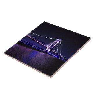 Vivid Violets Bridge Tile