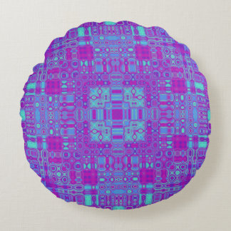 Vivid Vortex Round Cushion