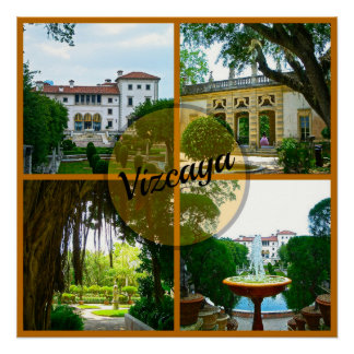 Vizcaya Museum and Botanical Garden Miami Florida Poster