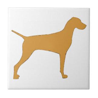 vizsla color silhouette ceramic tile