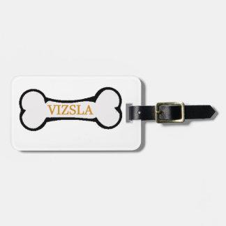 vizsla dog bone.png luggage tag