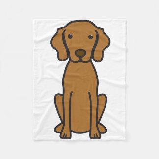 Vizsla Dog Cartoon Fleece Blanket